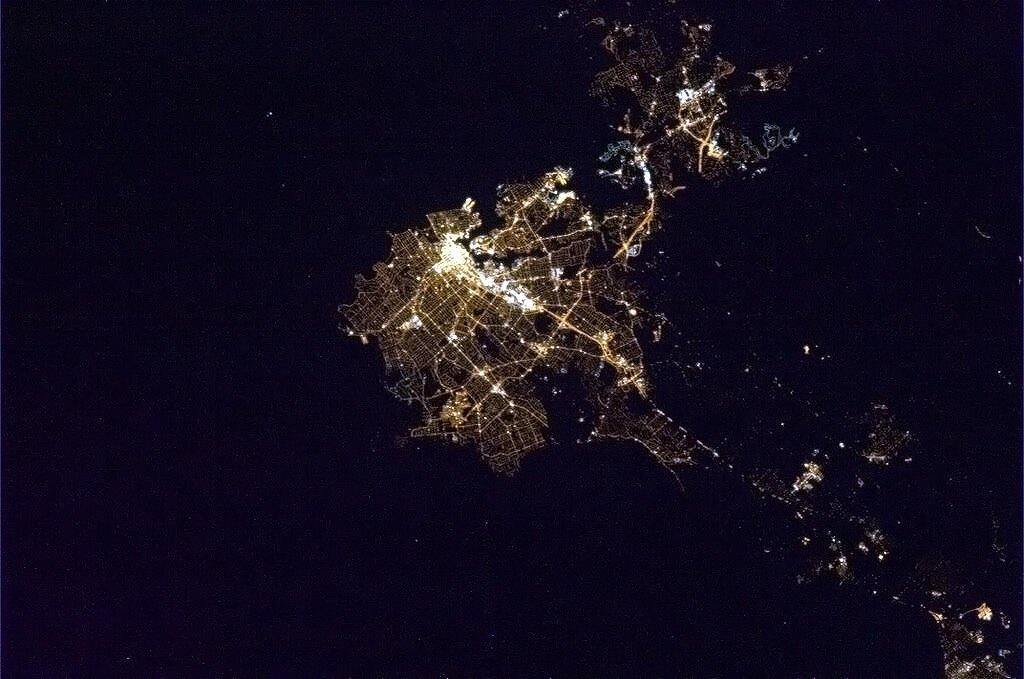 Twitter / Cmdr_Hadfield: Victoria, capital of BC, ...
