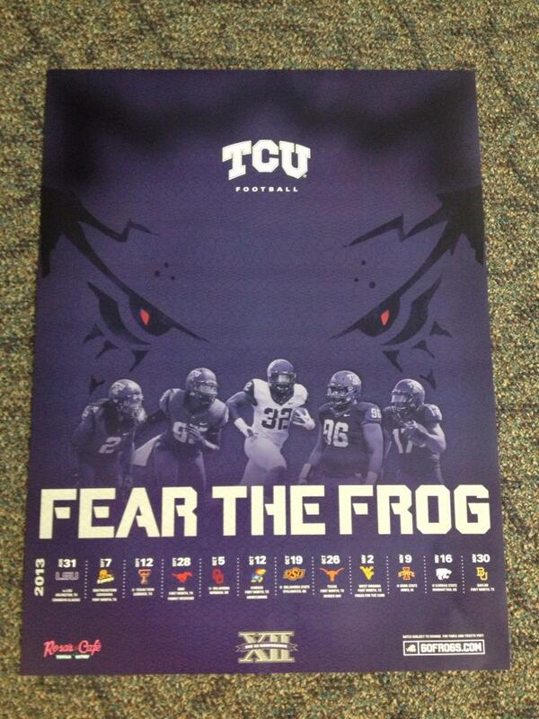 Mark Cohen On Twitter The 2013 Tcu Football Poster Httptco