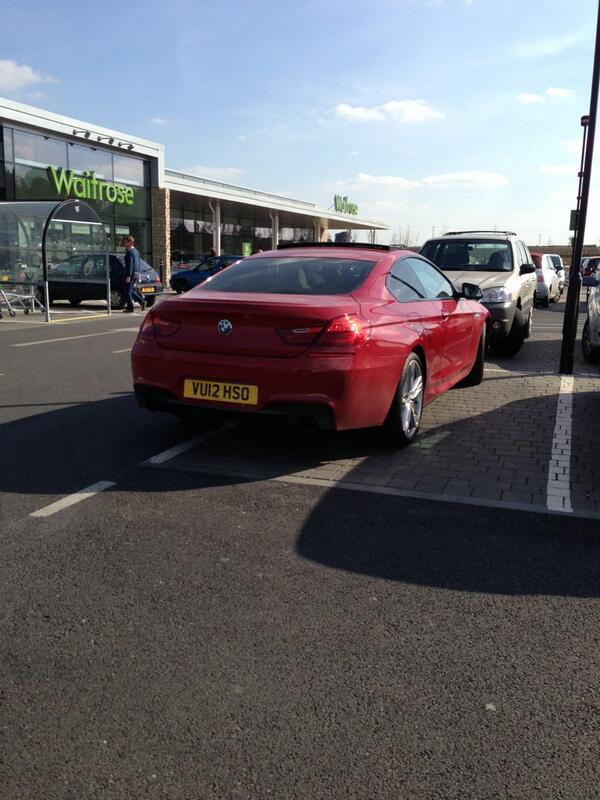 VU12 HSO displaying Selfish Parking