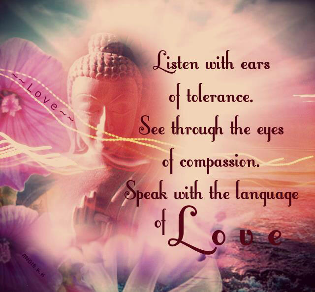 Twitter / Jerica777: Listen with ears of tolerance, ...