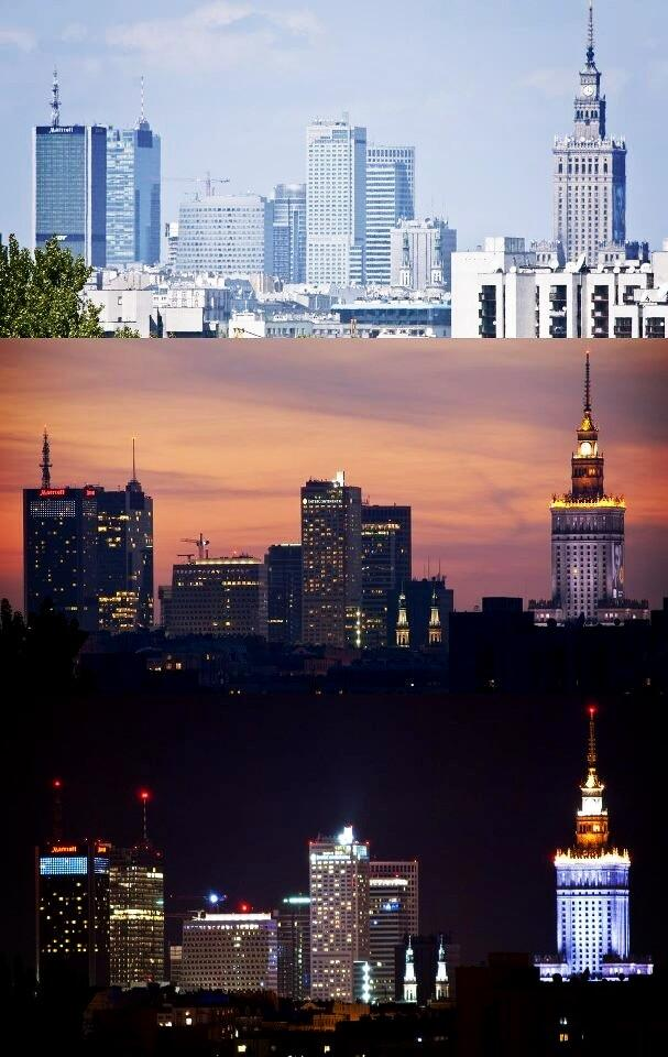 Twitter / AllAboutPoland: #Warsaw - Daylight Sunset Night, ...