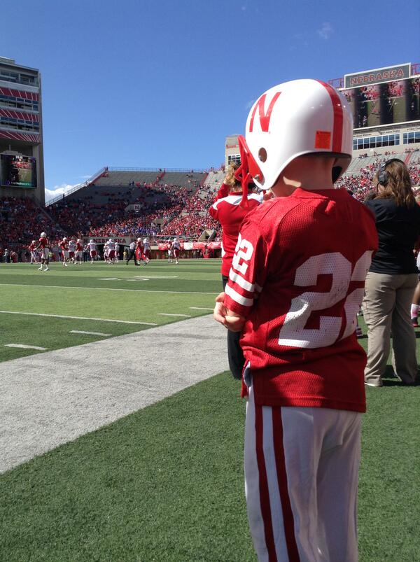 From earlier today, moments before taking the field. #TeamJack #Huskers pic.twitter.com/LuE2i3xylz