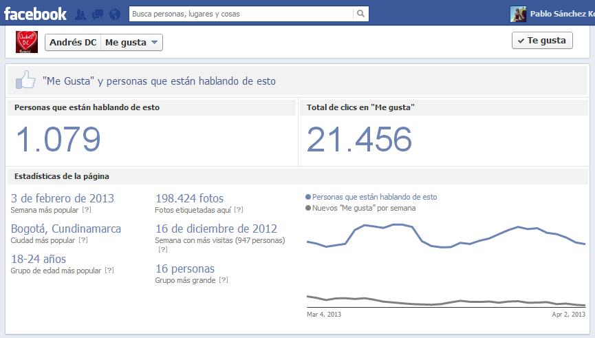 Twitter / pablo_sanchez_k: Wow! AndresDC tiene 23k fans ...
