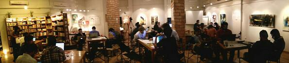 People in action #CivHackKHI at @thesecondfloor with @PASHAORG @pringit http://t.co/bdiEo8lMeQ