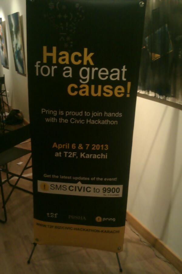 Pring's message at the #CivHackKhi day 2 with @PASHAORG @snajmi @thesecondfloor @pringit http://t.co/gtSAmV1vaM