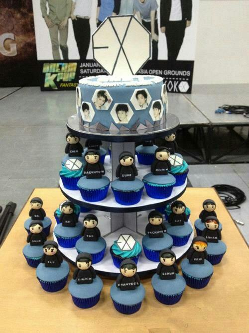 1000+ images about EXO on Pinterest  Baekhyun, Cupcake tier and ...