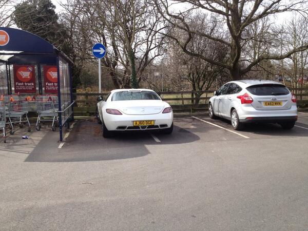 AJ60 DCE displaying crap parking
