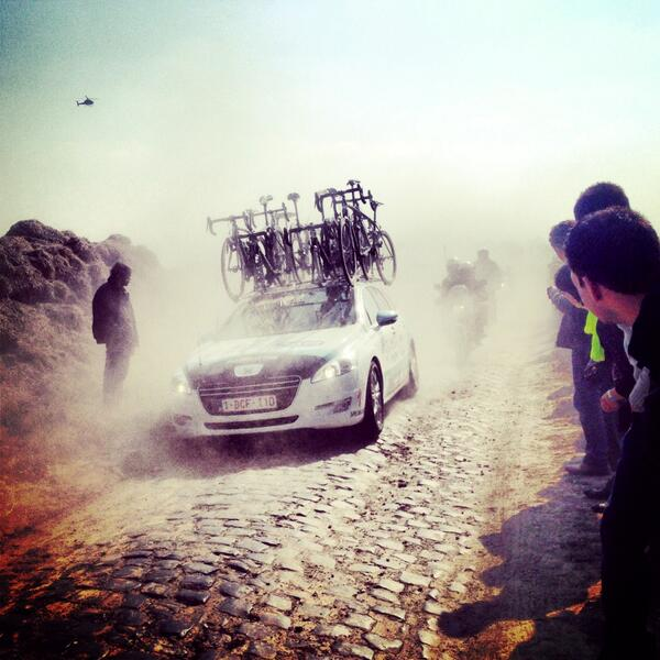 Dust in the wind... Was it #ParisDakar or #parisroubaix today?! #OPQS pic.twitter.com/sxUp6vfp4w