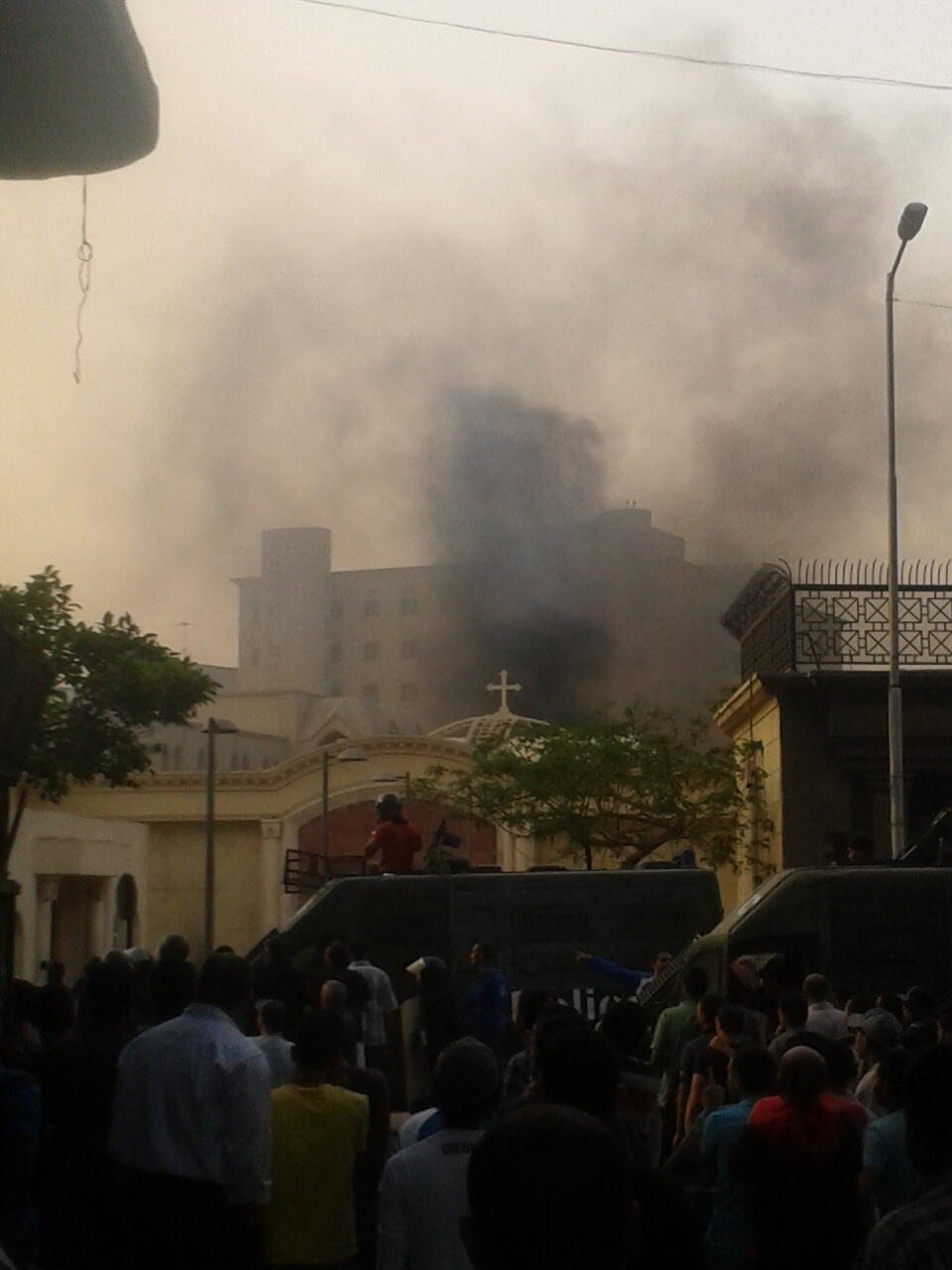 Twitter / Alastair_Beach: Fire inside cathedral compound ...