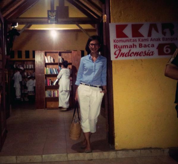 Inilah Rumah Baca Indonesia ke 6 di Ashram Gandhi Puri