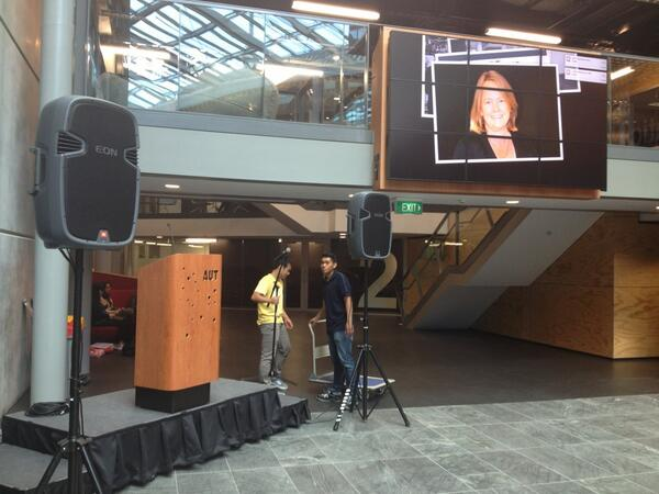 #LTDF2012 @AUTuni Stage set nicely, thanks to AUT events  :-) pic.twitter.com/IYmHpUOGlW