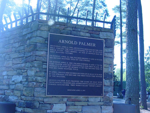 Twitter / Golfaid: An Arnold Palmer plaque is ...
