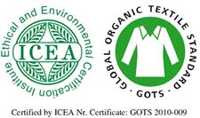 Algodón organico certificado ICEA  Y GOTS_MASMIONLINE