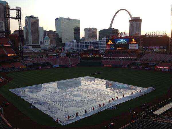 Thumbnail for Fans flock to Kiener Plaza, Busch Stadium for opening day festivities