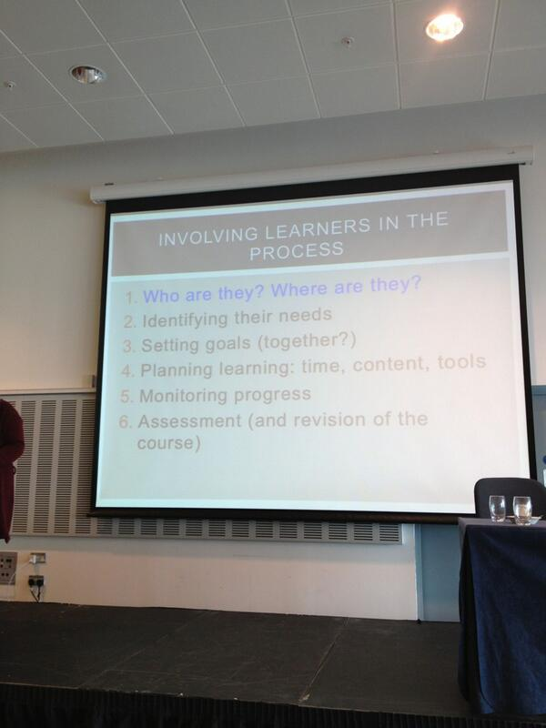 Involving Learners in the Process by @kristina_smith1 #iatefl #ltsig pic.twitter.com/spZTeHYKSZ