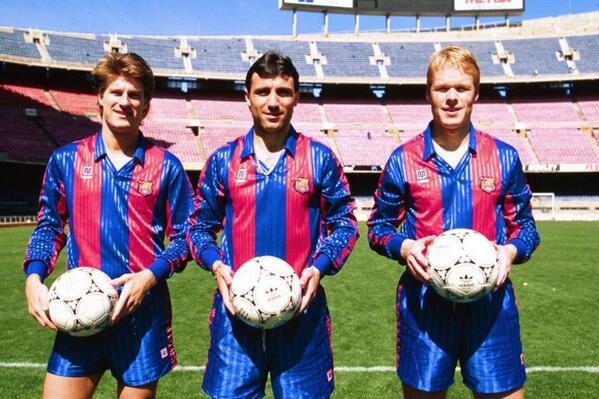 "Sergio. on Twitter: ""Laudrup, Hristo Stoichkov y Ronald Koeman. Claves en el Dream Team de Cruyff. http://t.co/s7uUHsWr2P"""