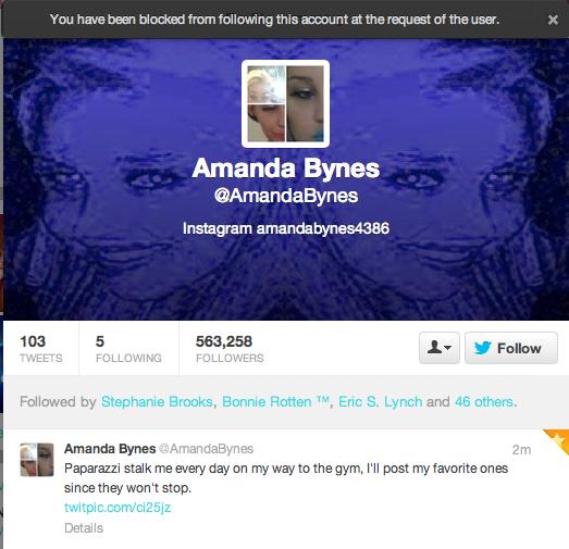 Twitter / SHABOOTY: HAHAH @AmandaBynes just blocked ...