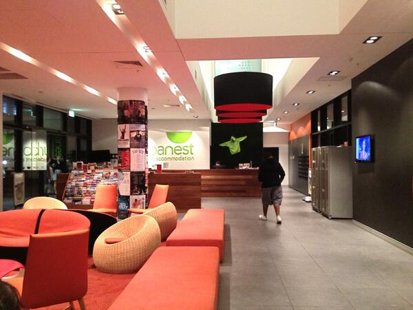 Check out the #NYUSydney residence building RT @nyuwassemployer: Here's a look at the lobby of our residence building pic.twitter.com/ZpvMKjUlDV