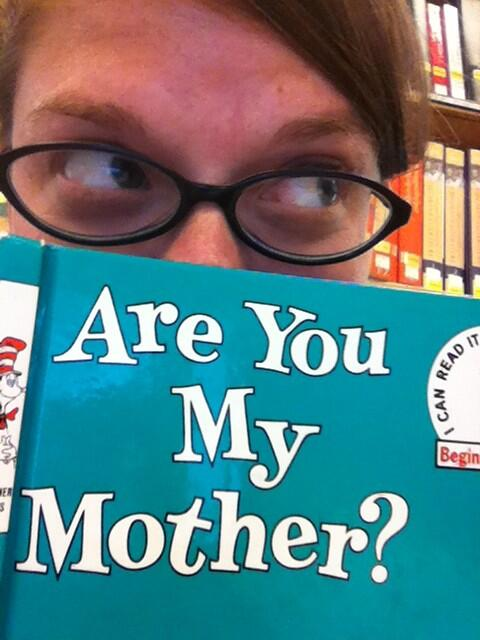 My (and my mom's) fave children's book. Are You My Mother? By PD Eastman. Gets me every time! #UNCSnapIt http://pic.twitter.com/MAr30vF204