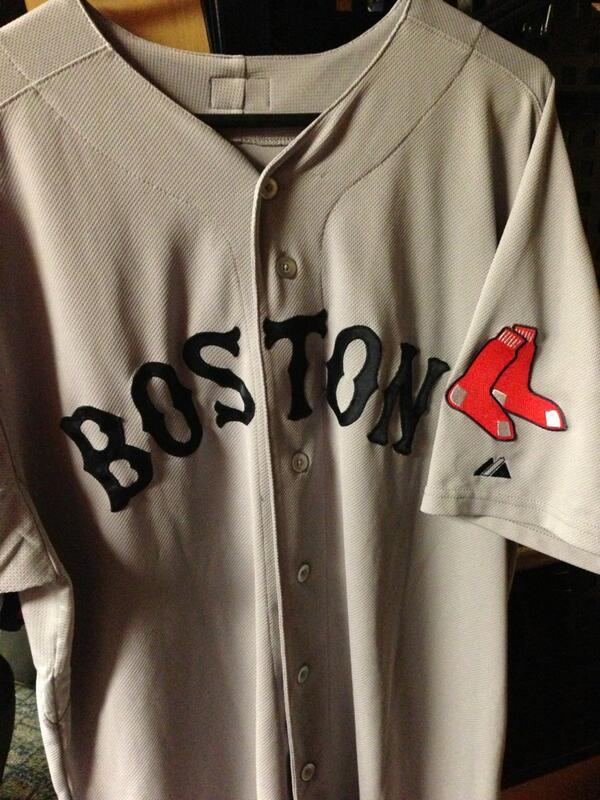 Wearing a Boston uniform has new meaning for me today. Honored and proud to represent a city of heroes! http://t.co/TrkNMmoEWl