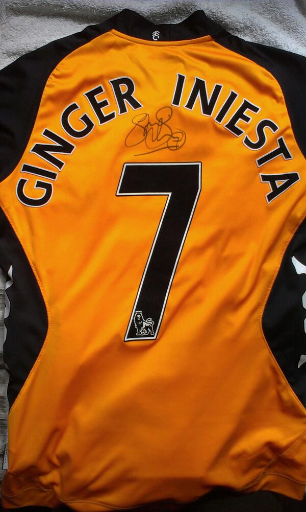 """@FulhamFC: Fulham's Ginger Iniesta! #ffc #closer instagram.com/p/X4nJF7E1BP/"" here's the shirt! @sjsidwell pic.twitter.com/7cp6B6mbE4"