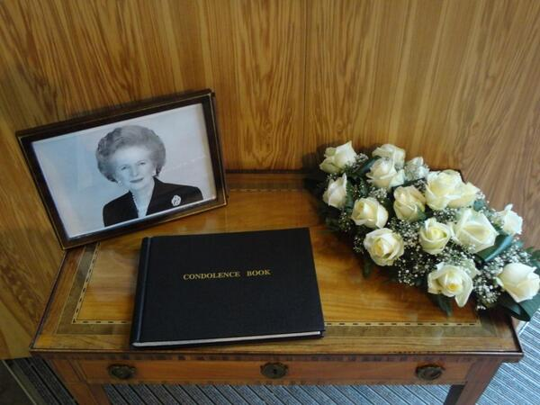 Lady #Thatcher condolence book available for signing at @UkinBelgium http://goo.gl/UELQF http://pic.twitter.com/6UZrZnPLTz