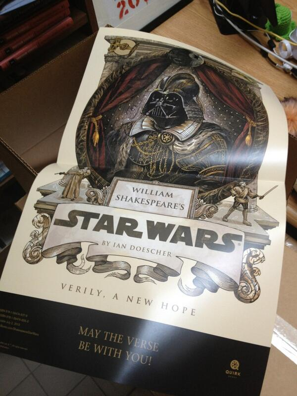 Currently packing boxes full of these Shakespeare Star Wars posters for @c2e2! Expect a giveaway soon! pic.twitter.com/xsRgTvqQOS