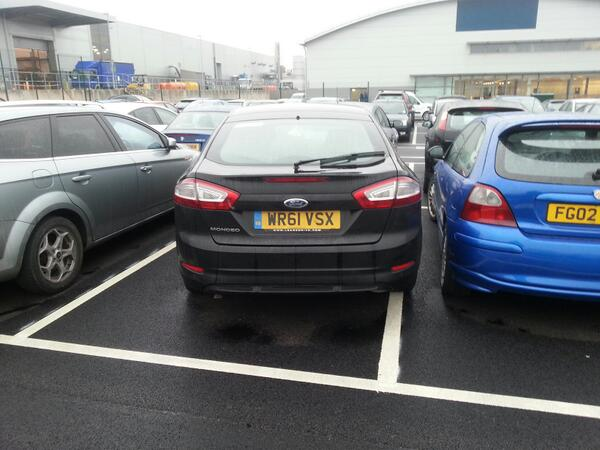 WR61 VSX displaying Inconsiderate Parking