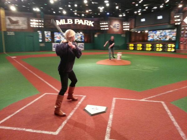 Heidi Watney On Twitter Taking A Little Bp At Mlb Park As We Get