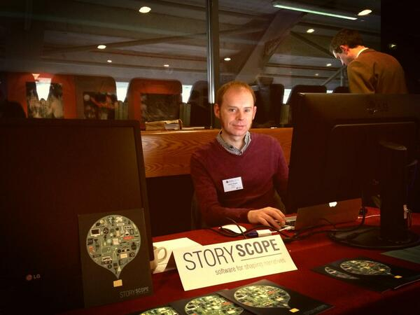 Visit Storyscope exhibit at #EDF_13 'Software for shaping narratives' decipher-research.eu @Decipher_FP7 pic.twitter.com/tdf5UxrU8d