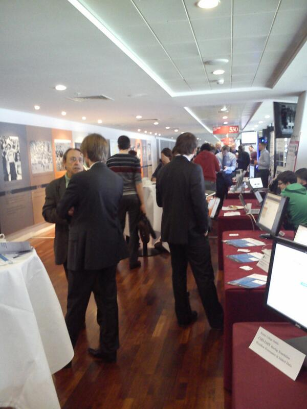 Exhibition is in full swing at European Data Forum #edf_13 #bigdata pic.twitter.com/w78MKPCOlI
