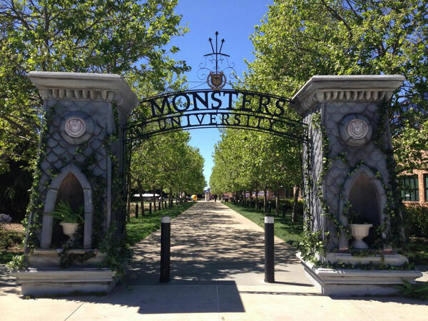 Pixar has been transformed into the Monsters University campus! http://t.co/wJFtZE1EZI