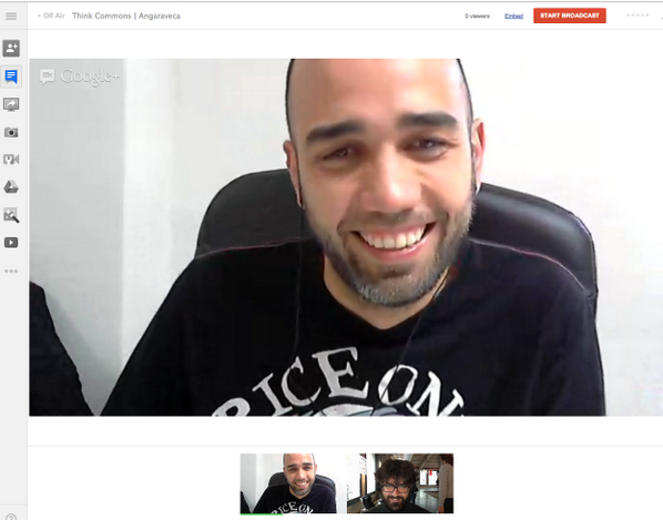 Ya estamos listos para empezar la sesión > conoceremos a @angaraveca creativo que se toma en serio el @procomun pic.twitter.com/UNCTM51BfO