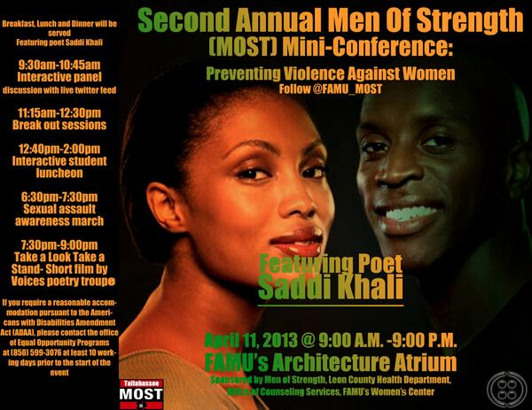 "Lamere, of FAMU MOST said, ""We are creating ways to prevent violence against women on camps."" #FAMUMOST #MINICONF2k13 pic.twitter.com/2x8Hxqx9dT"