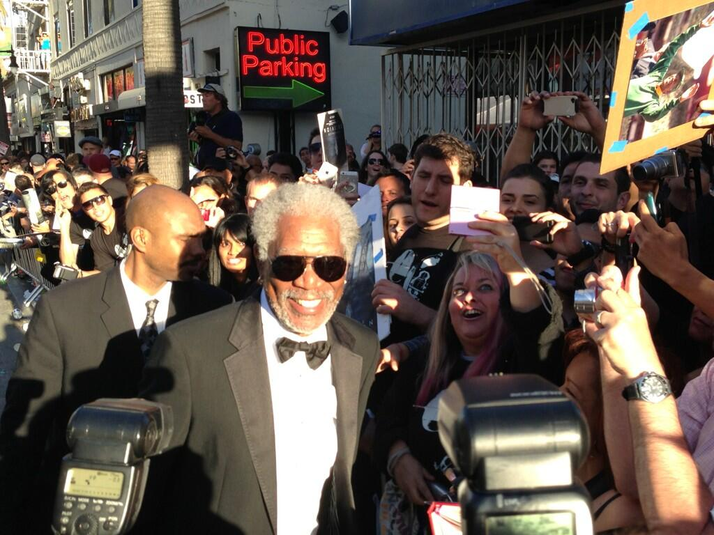 Twitter / OblivionMovie: Morgan Freeman with his fans ...
