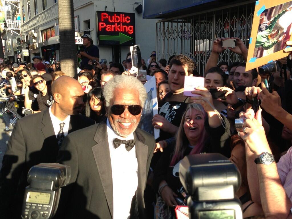Twitter / OblivionMovie: Morgan Freeman with his fans ...