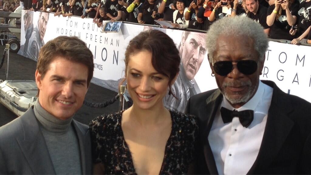 Twitter / OblivionMovie: The three stars of #Oblivion- ...