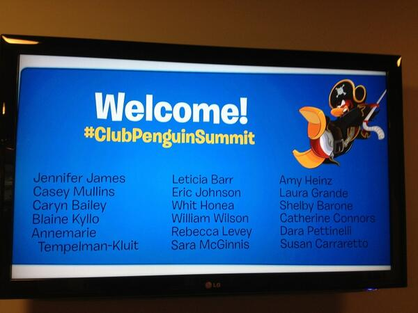 Looks like the penguins knew we were coming. #ClubPenguinSummit pic.twitter.com/KQde9MRObB