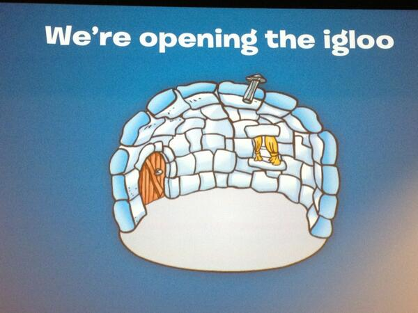 "They are ""opening the igloo"" here and sharing the inside story of how they run #ClubPenguin #ClubPenguinSummit pic.twitter.com/zkc8lbxr0o"