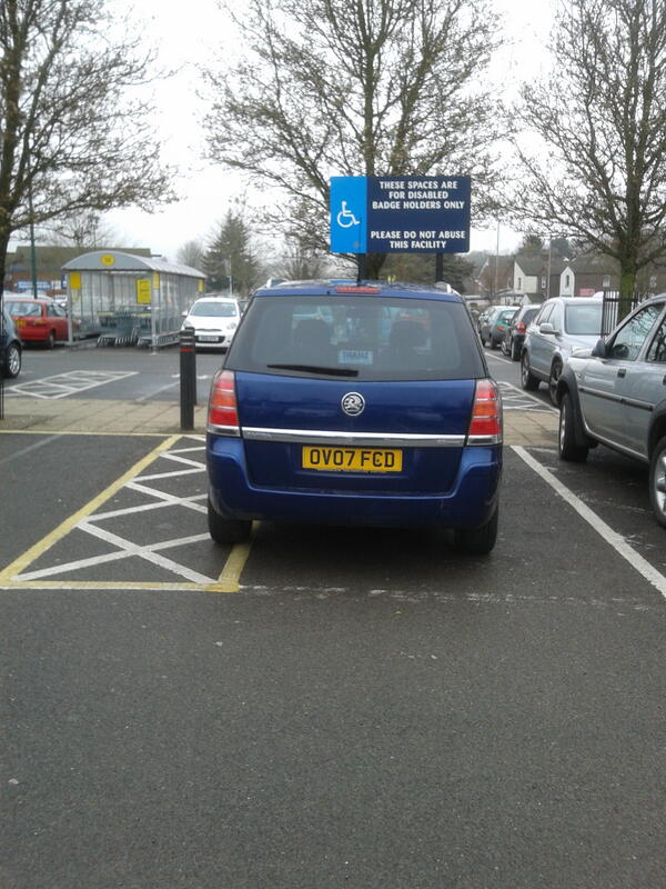 OV07 FCD is an Inconsiderate Parker