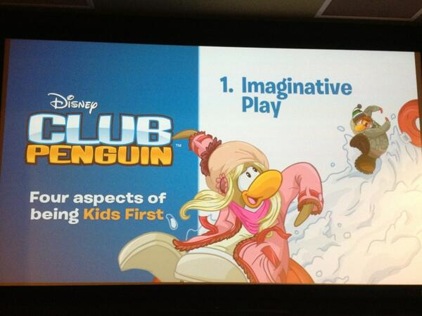 "Club Penguin is like ""the empty cardboard box"" where kids use imagination to create play. #ClubPenguinSummit pic.twitter.com/OfCr6uYEYN"