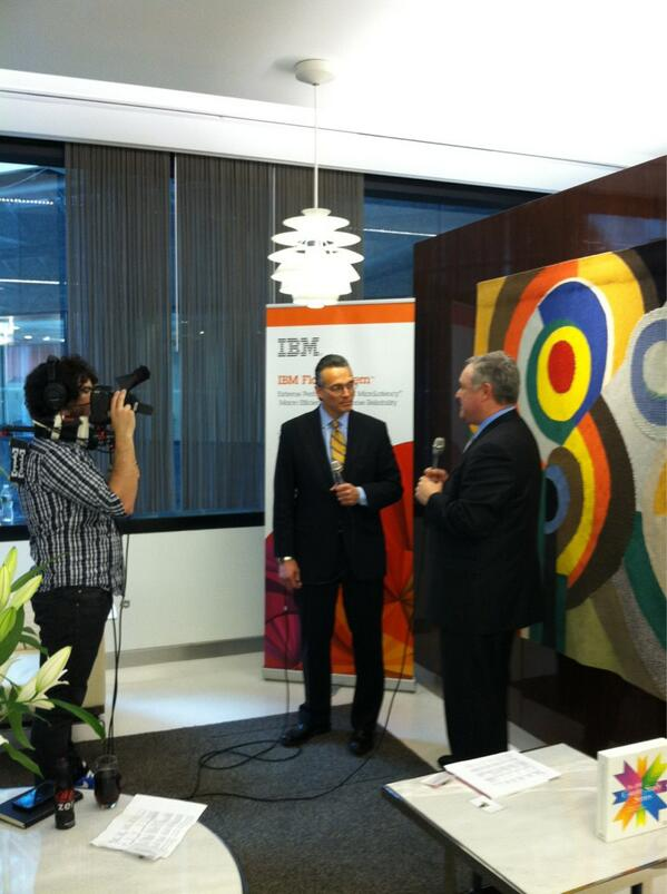 """""""We're all in."""" IBM's Steve Mills being interviewed by @dvellante at #flashahead http://pic.twitter.com/SGO85XhovM"""