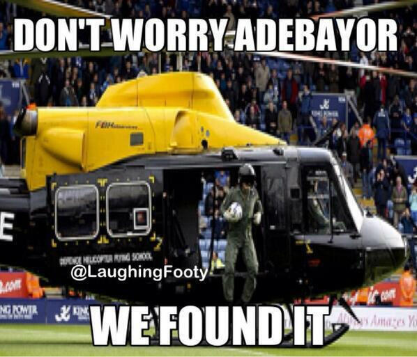Emmanuel Adebayors woeful penalty v Basel: The best joke videos & Memes