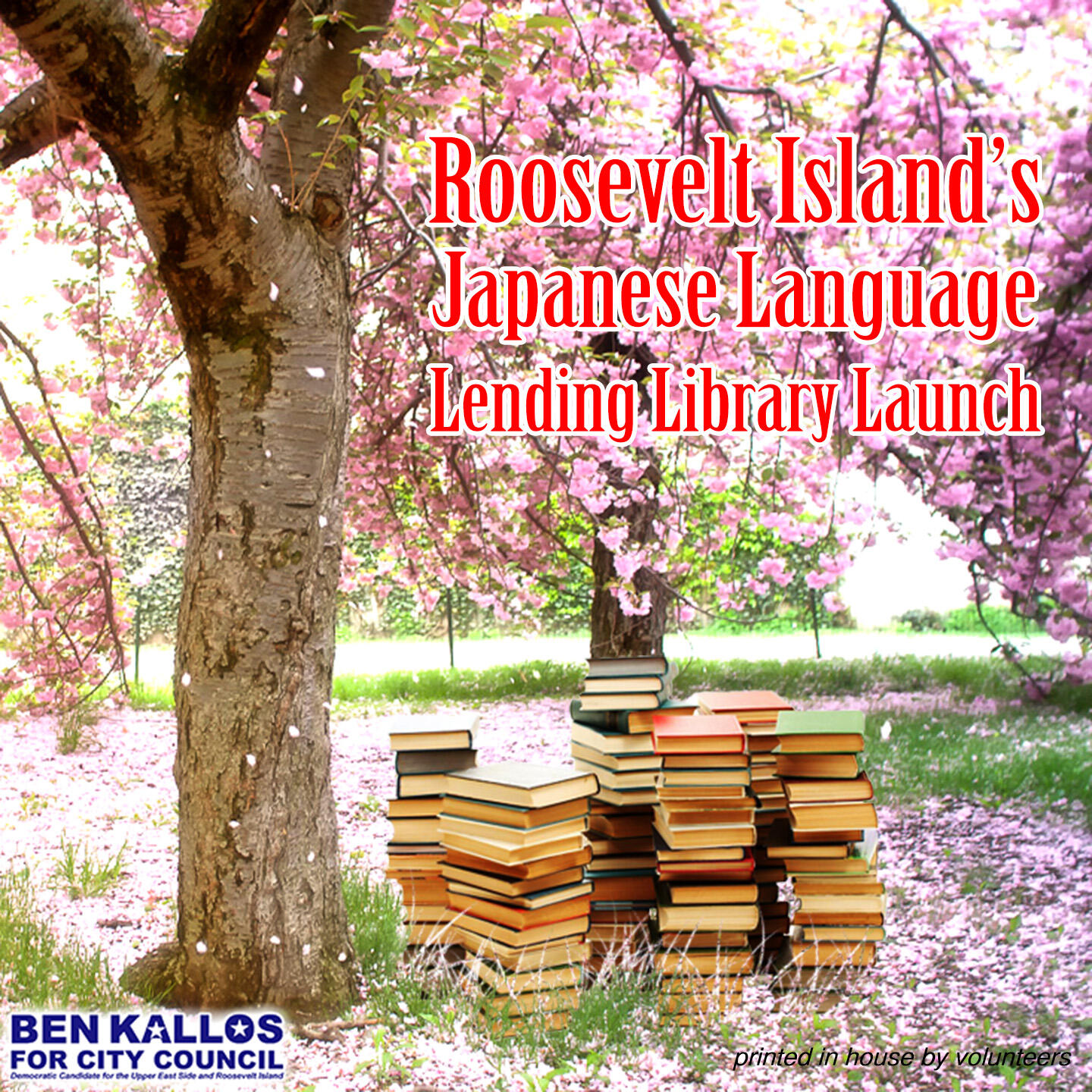 Roosevelt Island's Japanese Langauge Lending Library, started by Ben Kallos
