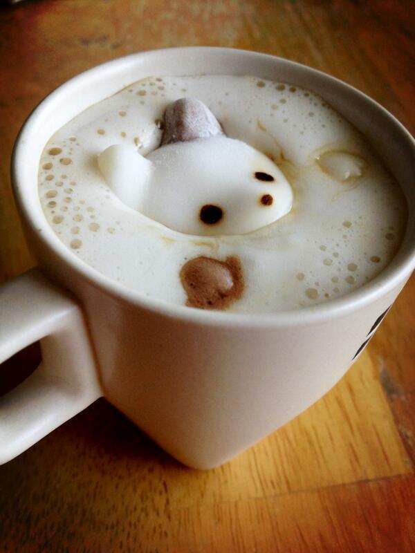 これコーヒーに浮かべるらしいんだけど、やってみたら思ったより可愛くてやばい