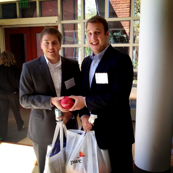 PwC gave us great information and great goodies!! #owenwelcome pic.twitter.com/emGNi7rGHE