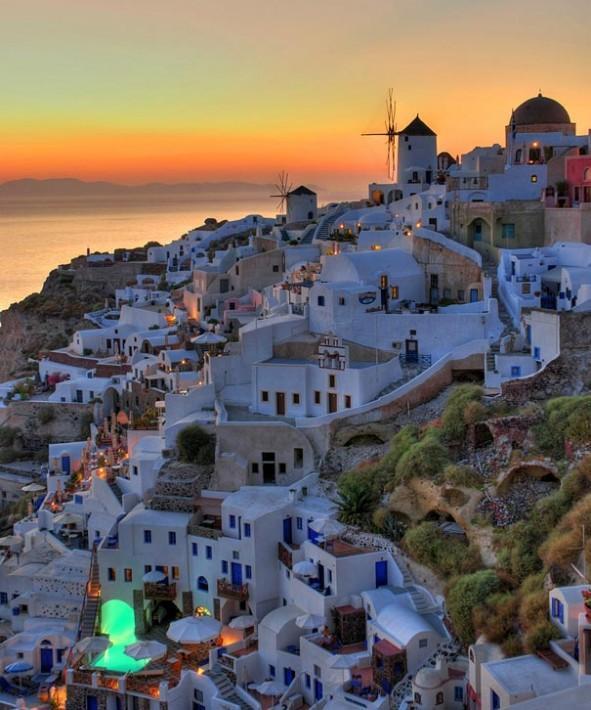 "Most Popular Vacation Spots In The World: 一度は行ってみたい世界の絶景 On Twitter: ""【ギリシャ】サントリーニ島の夕焼け。エーゲ海のキクラデス諸島"
