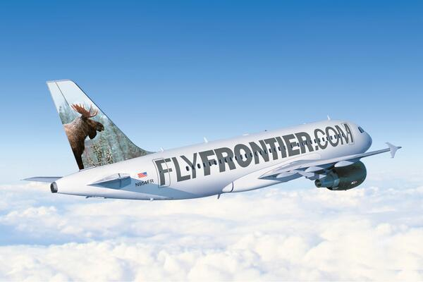 frontier airlines on twitter welcome mickey the moose he adorns our new a319 n954fr our new livery celebrates our website http t co 7uemyakmet http t co 3ggwk9xei4 frontier airlines on twitter welcome