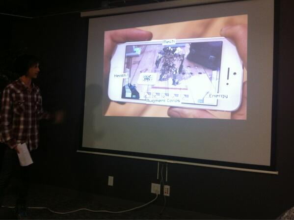 #swboulder demo: Holocon - Augmented Reality Trading Card Game.  Created @Kickstarter page with $100k goal. pic.twitter.com/6sCgqoHB51