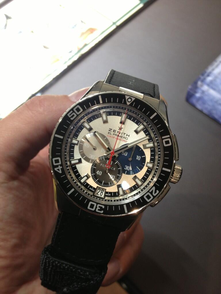 Felix Baumgartner's actual watch at Baselworld 2013